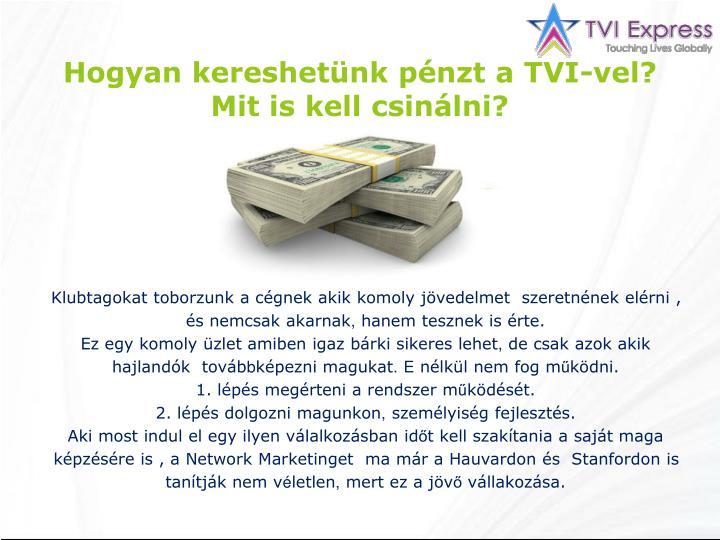 Hogyan kereshetünk pénzt a TVI-vel?