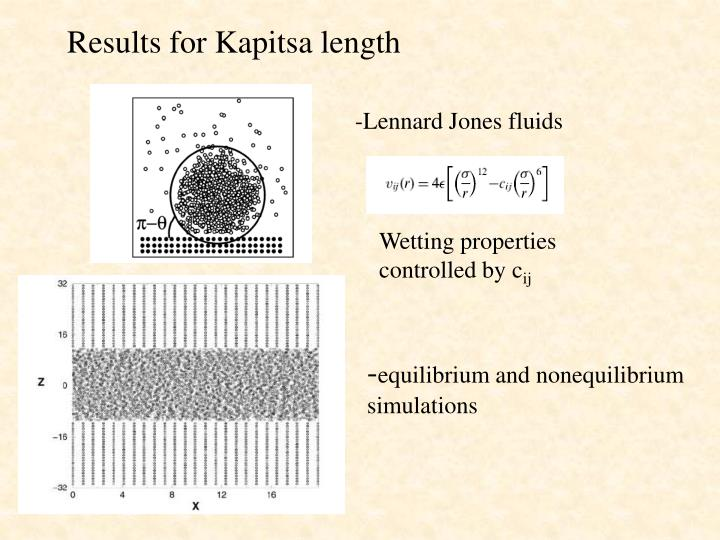 Results for Kapitsa length