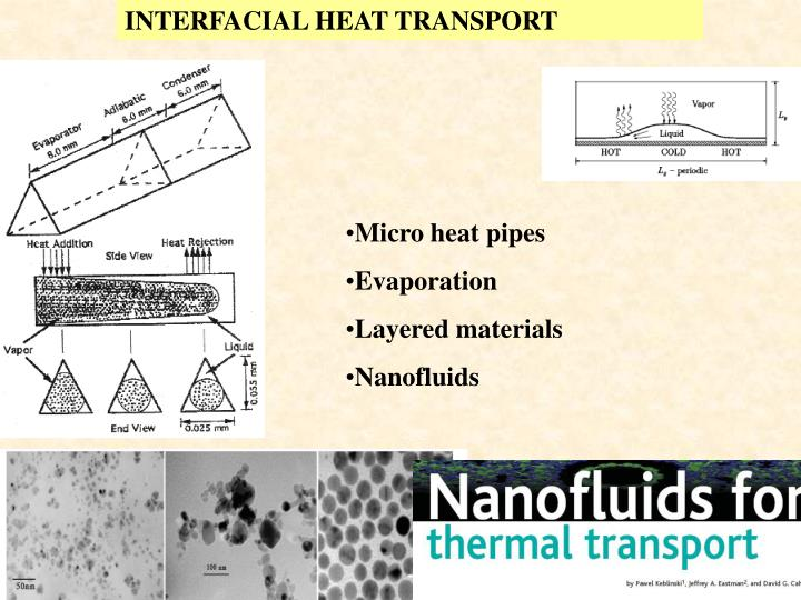 INTERFACIAL HEAT TRANSPORT