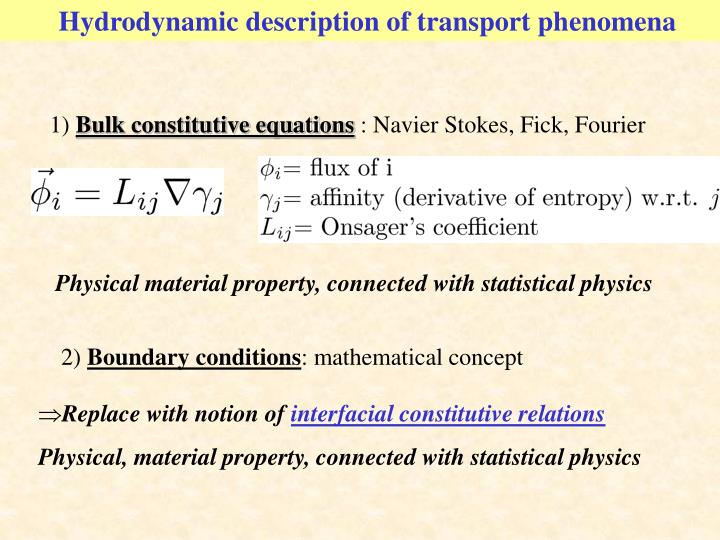 Hydrodynamic description of transport phenomena
