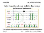 pulse repetition based on edge triggering