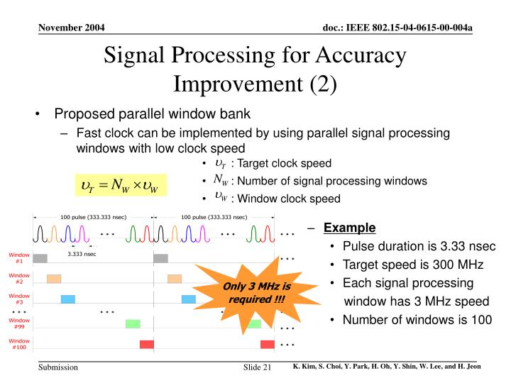 Signal Processing for Accuracy Improvement (2)