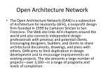 open architecture network