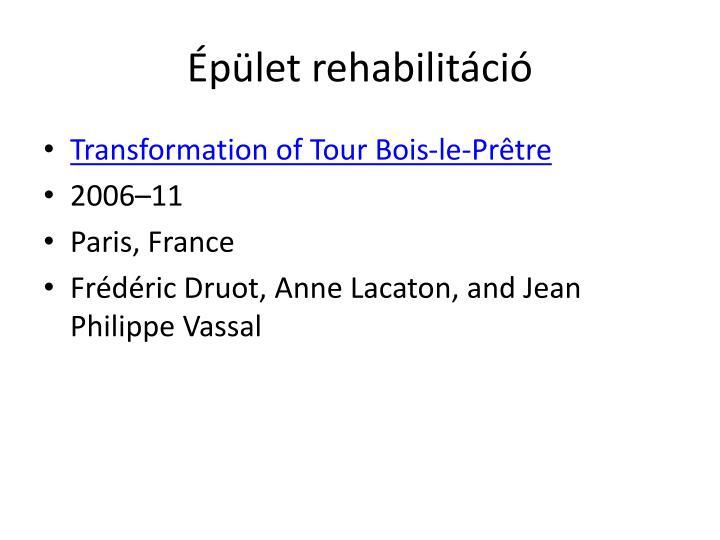 Épület rehabilitáció