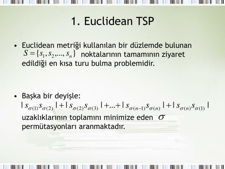 1. Euclidean TSP