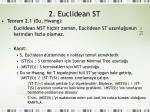 2 euclidean st