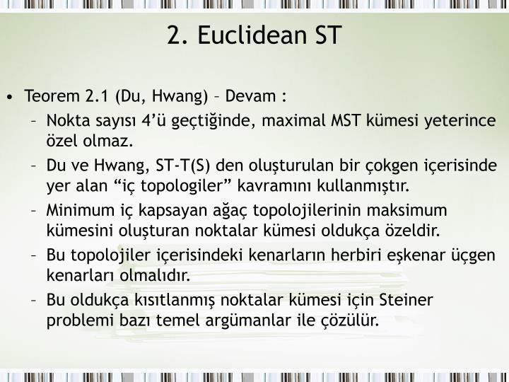 2. Euclidean ST