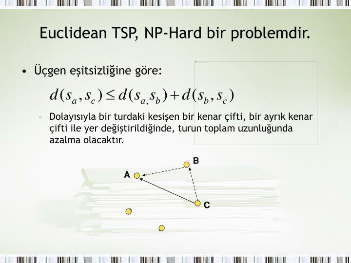 Euclidean TSP, NP-Hard bir problemdir.