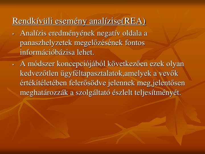 Rendkívüli esemény analízise(REA)