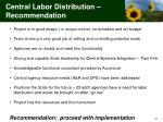 central labor distribution recommendation