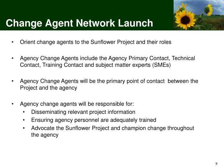 Change Agent Network Launch