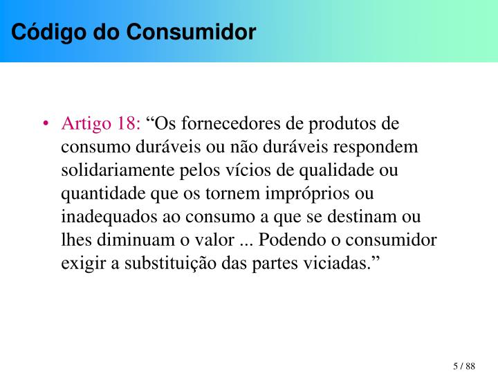 Código do Consumidor