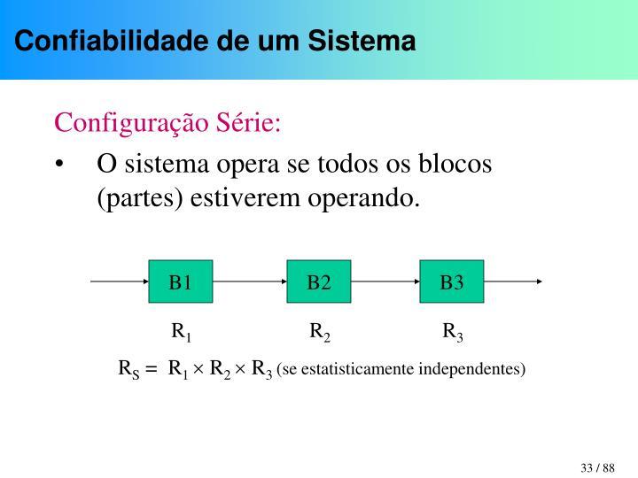Confiabilidade de um Sistema