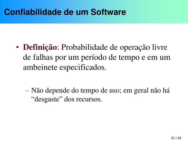 Confiabilidade de um Software