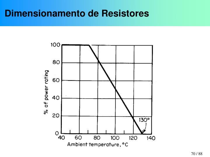 Dimensionamento de Resistores
