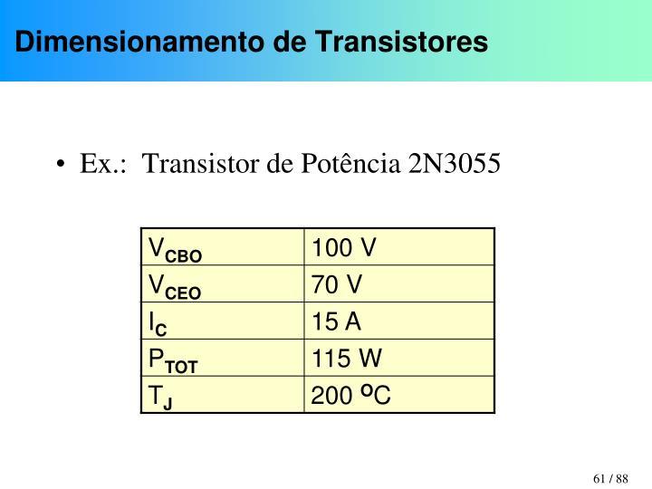 Dimensionamento de Transistores