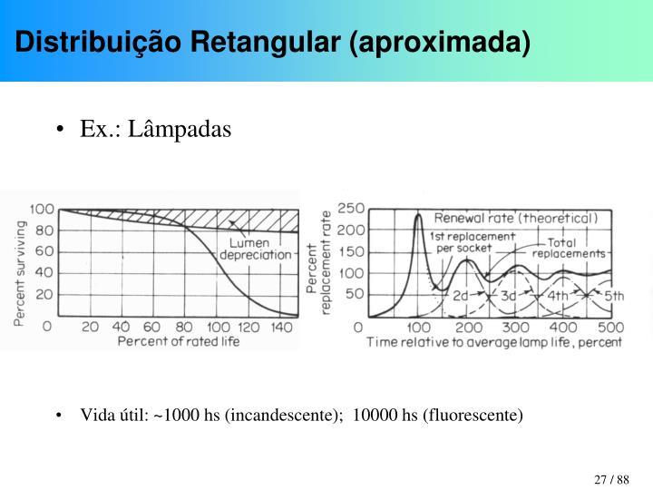 Distribuição Retangular (aproximada)