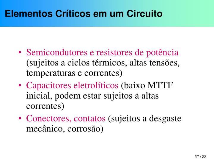 Elementos Críticos em um Circuito