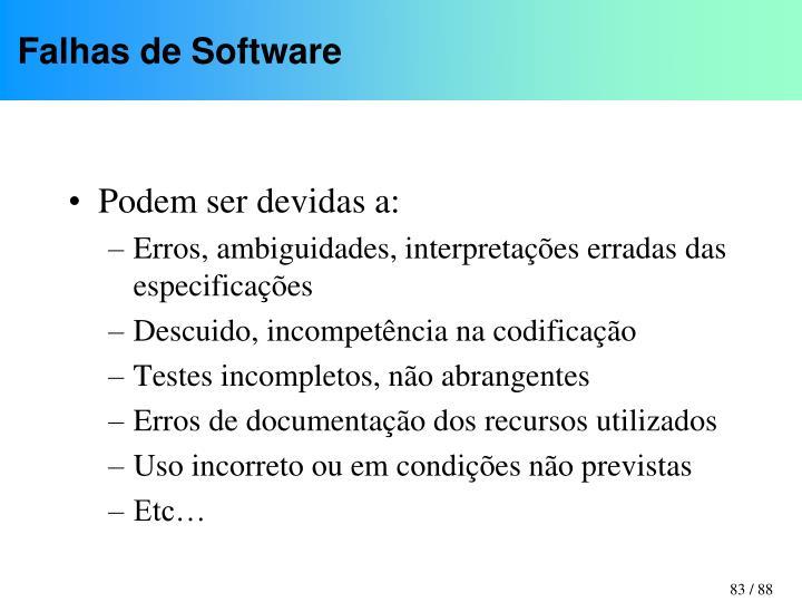 Falhas de Software