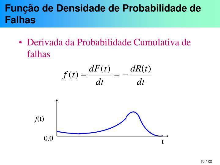 Função de Densidade de Probabilidade de Falhas