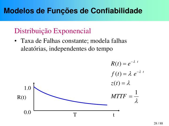 Modelos de Funções de Confiabilidade