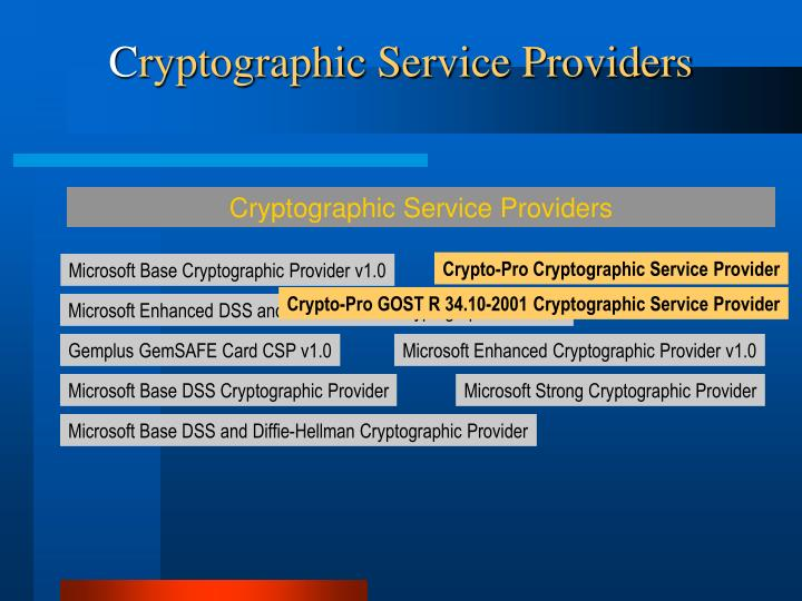 Cryptographic Service Providers