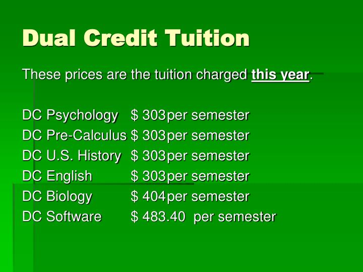 Dual Credit Tuition