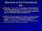 elements of the promotional mix5