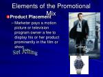 elements of the promotional mix6