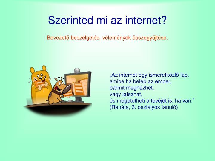 Szerinted mi az internet?