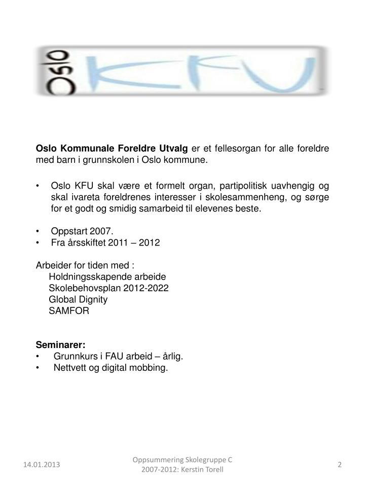 Oslo Kommunale Foreldre Utvalg