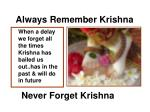 always remember krishna