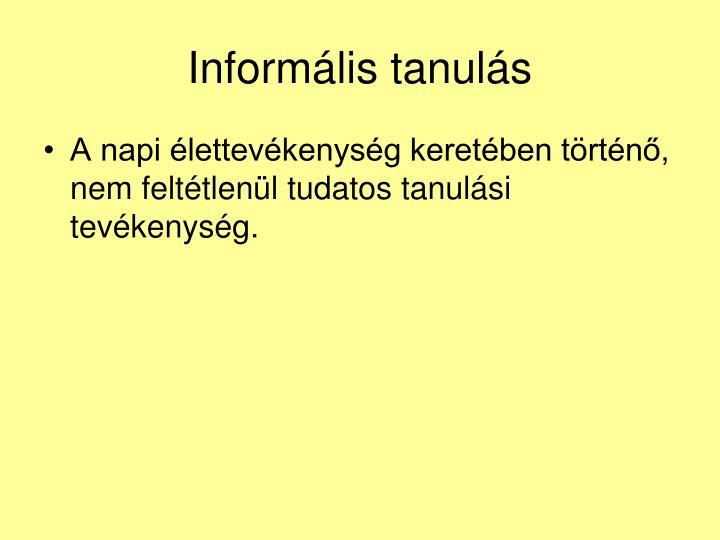 Informális tanulás