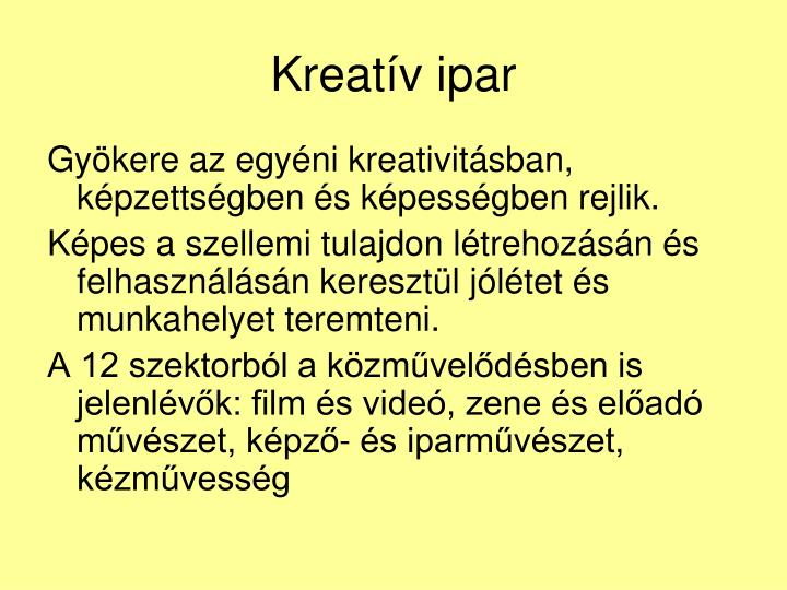 Kreatív ipar