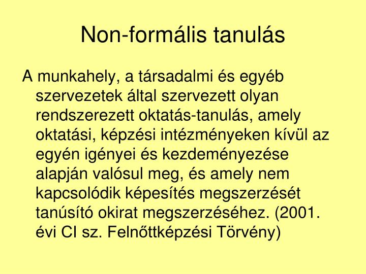 Non-formális tanulás
