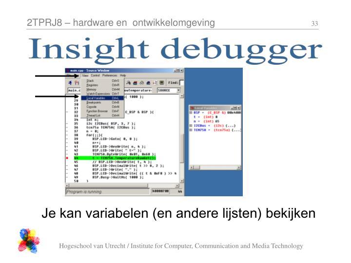Insight debugger