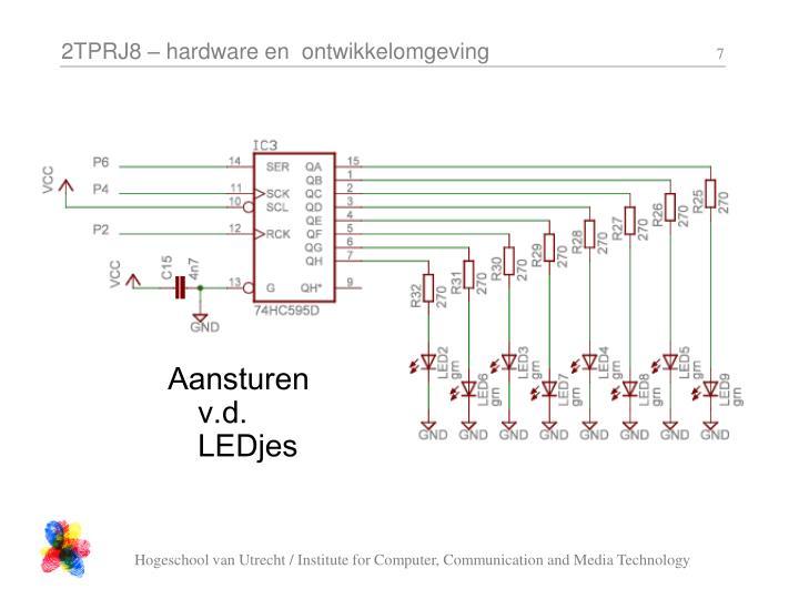 Aansturen  v.d. LEDjes