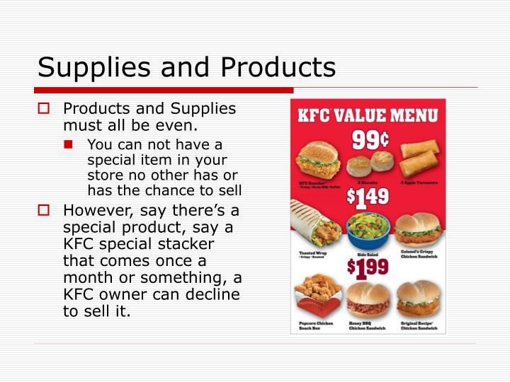 Supplies and Products