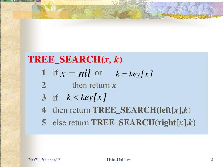 TREE_SEARCH(