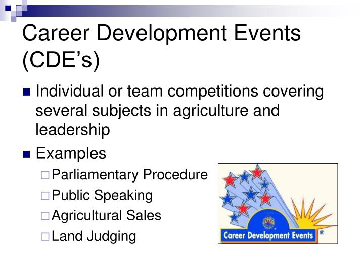 Career Development Events (CDE's)