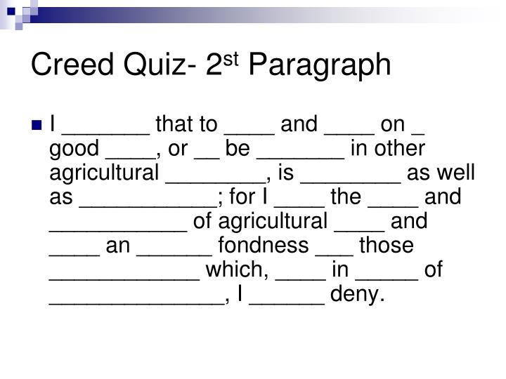 Creed Quiz- 2