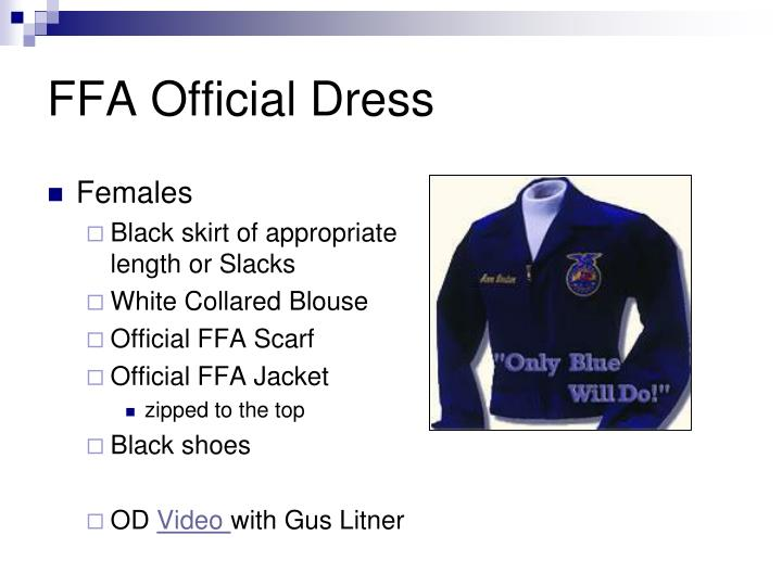 FFA Official Dress