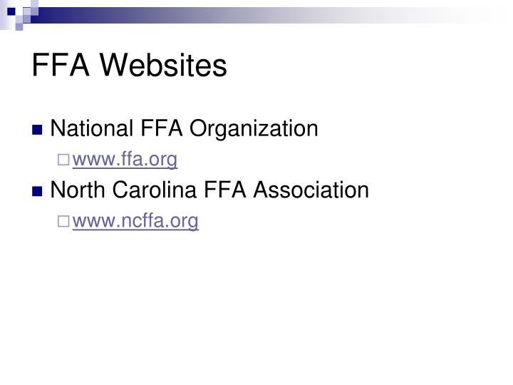 FFA Websites