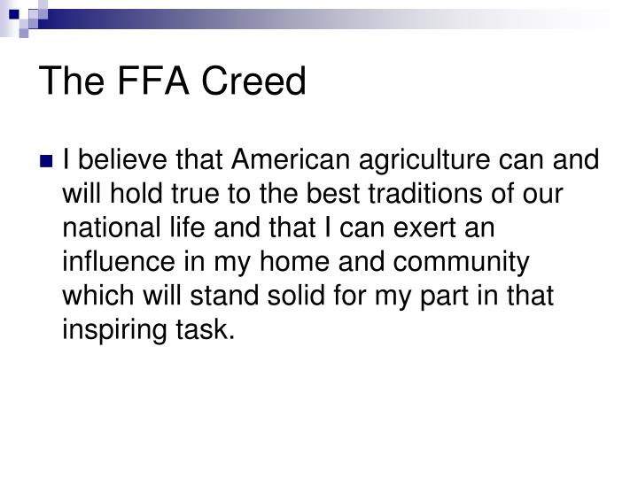 The FFA Creed