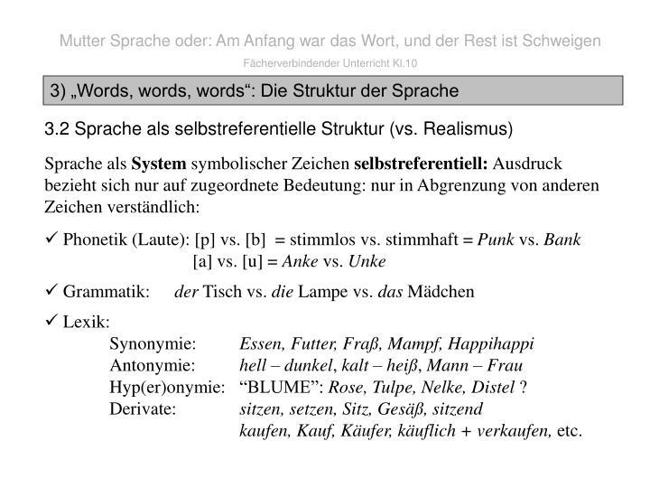 Mutter Sprache oder: Am Anfang war das Wort, und der Rest ist Schweigen
