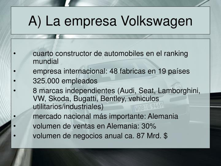 A) La empresa Volkswagen