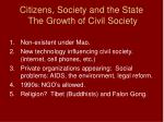 citizens society and the state the growth of civil society