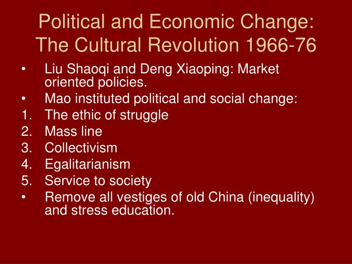 Political and Economic Change: