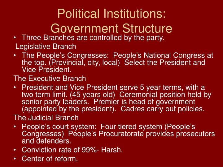 Political Institutions: