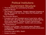 political institutions government structure